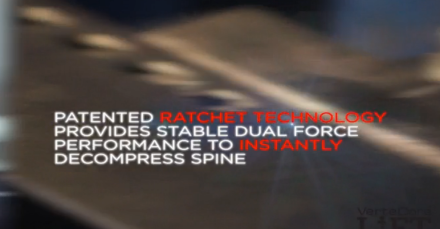 Patented Ratchet Technology Provides Stable Dual-Force Performance to Instantly Decompress the Spine